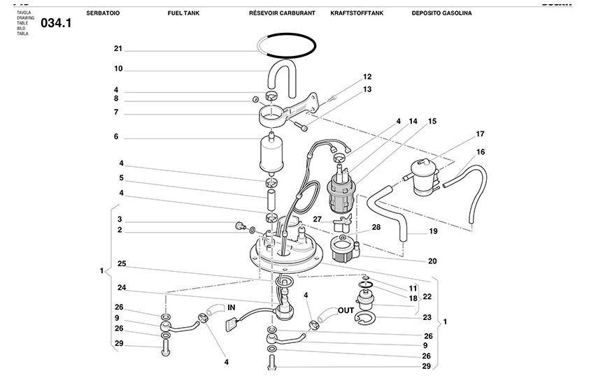 Ducati Fuel Pump O-Ring seal 916, 748, 996, 998, ST2, ST3
