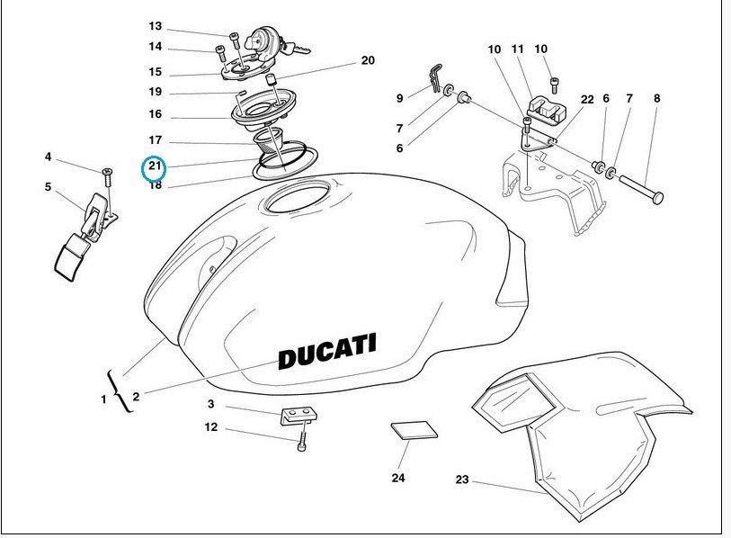 Ducati Fuel Filler oring MS 851 888 RR 400 600 620 750 900
