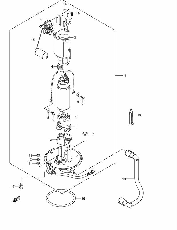SUZUKI 15201-35F00 fuel pump oring