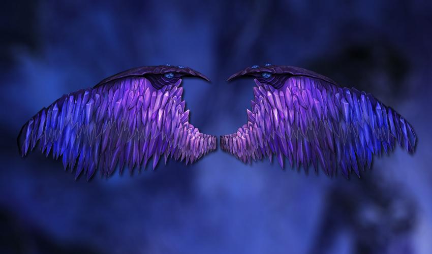 Purple crystal wings