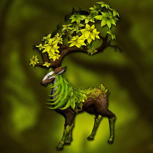 Forest deer mount