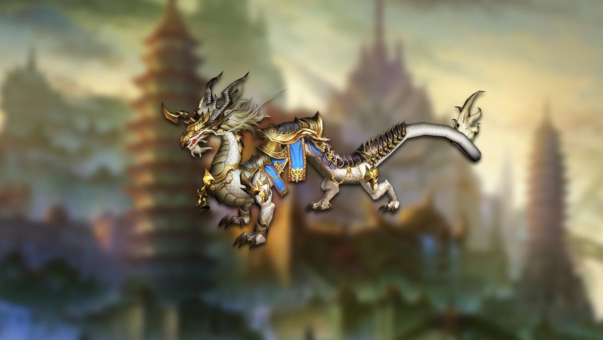 Majestic chinese dragon