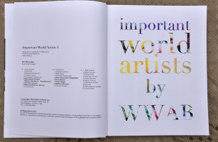 """Publication 2013 """"important world artists by WWAB"""" The Title Page. My name is under column B #4"""