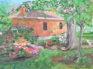 Guard House at the Navy Yard, Oil on Ampersand Art Supply gessobord 9x12 $350