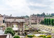 Le forum romain, vu du capitole.