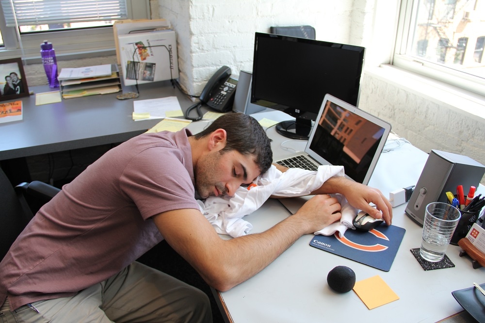 Sieste au bureau