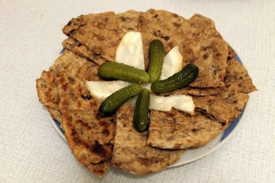 mushroom lentil flat bread