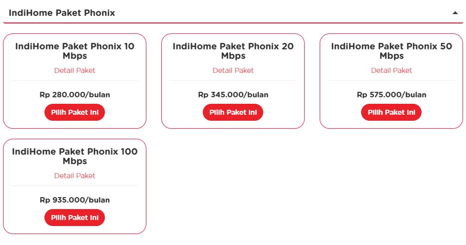 Paket Indihome Ponix Lama