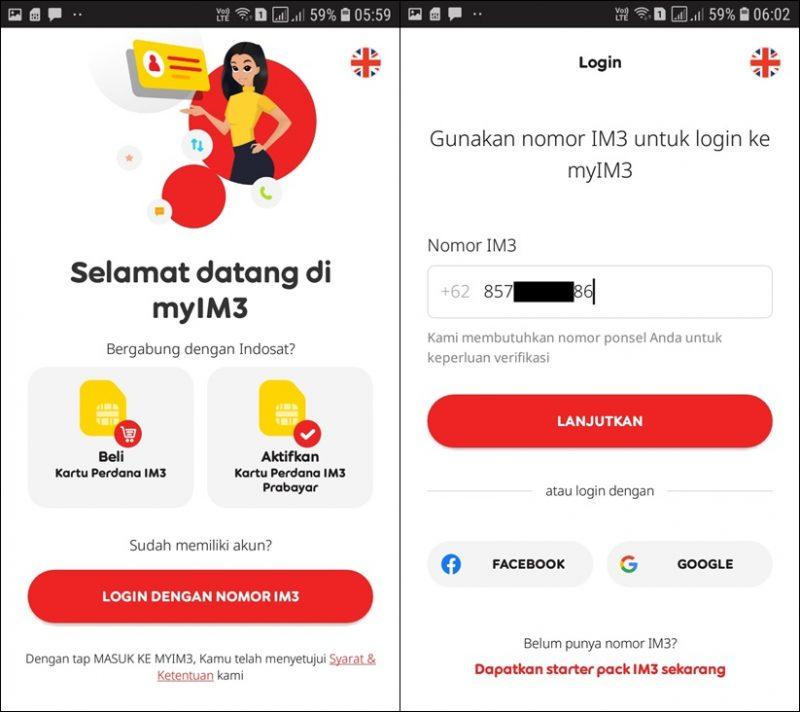 cara login aplikasi myim3