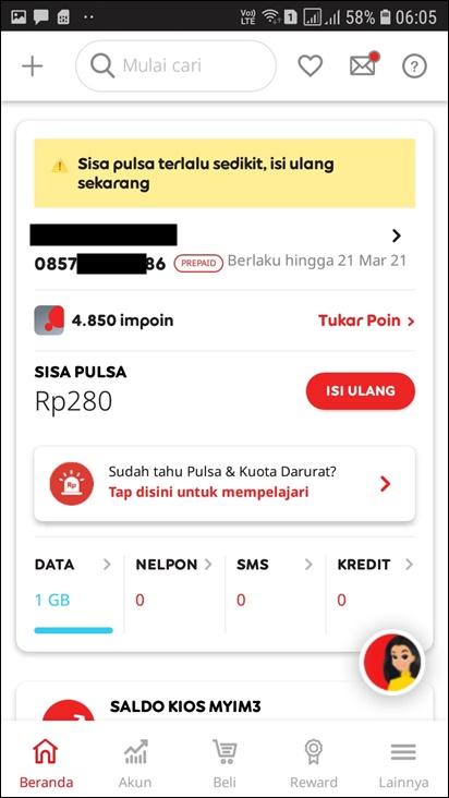 cek nomor im3 melalui aplikasi myim3