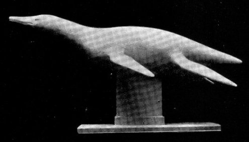 Peloneustes model - plaster cast produced by the Rev. H. Neville Hutchinson (1922).