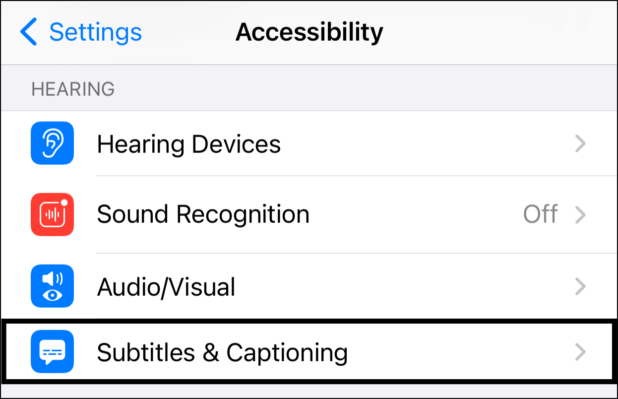 enable closed captioning and change subtitle appearance on iPhone and iPad to fix Netflix subtitles not working, out of sync or missing
