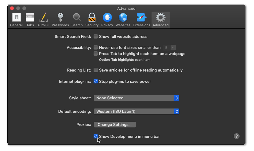 delete web browser data, cache and cookies on macOS to fix can't log in or sign in to Instagram