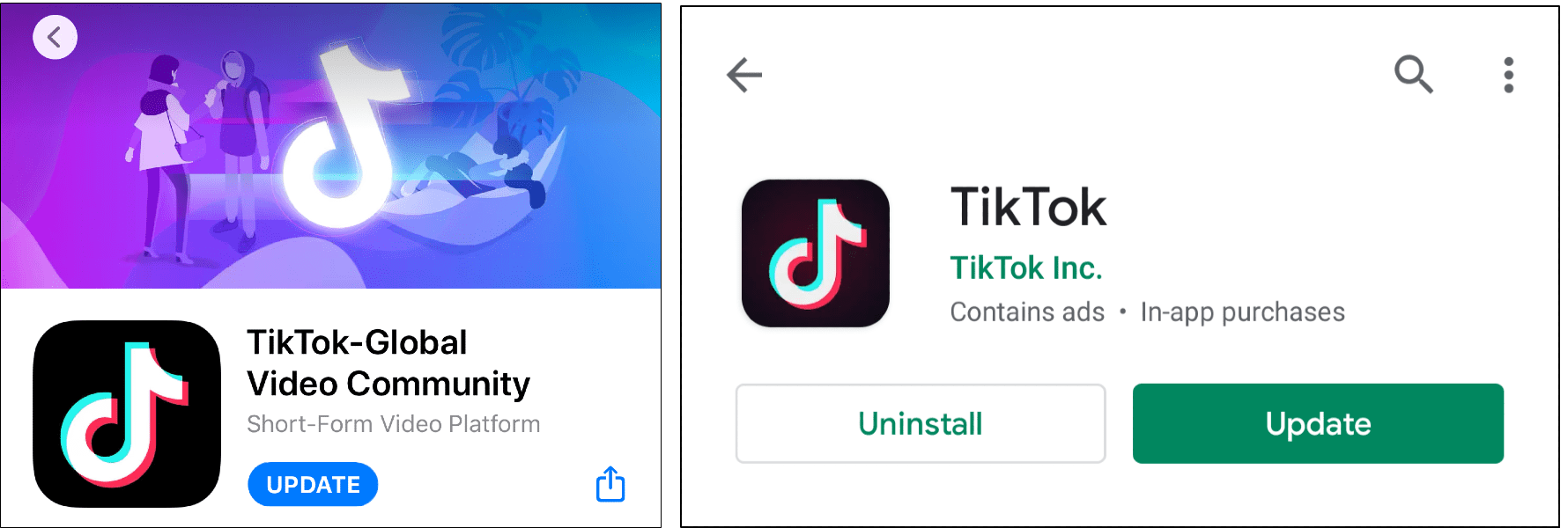 """update tiktok app to fix can't log in to TikTok, """"Too many attempts, please try again"""" error message, or login failed"""