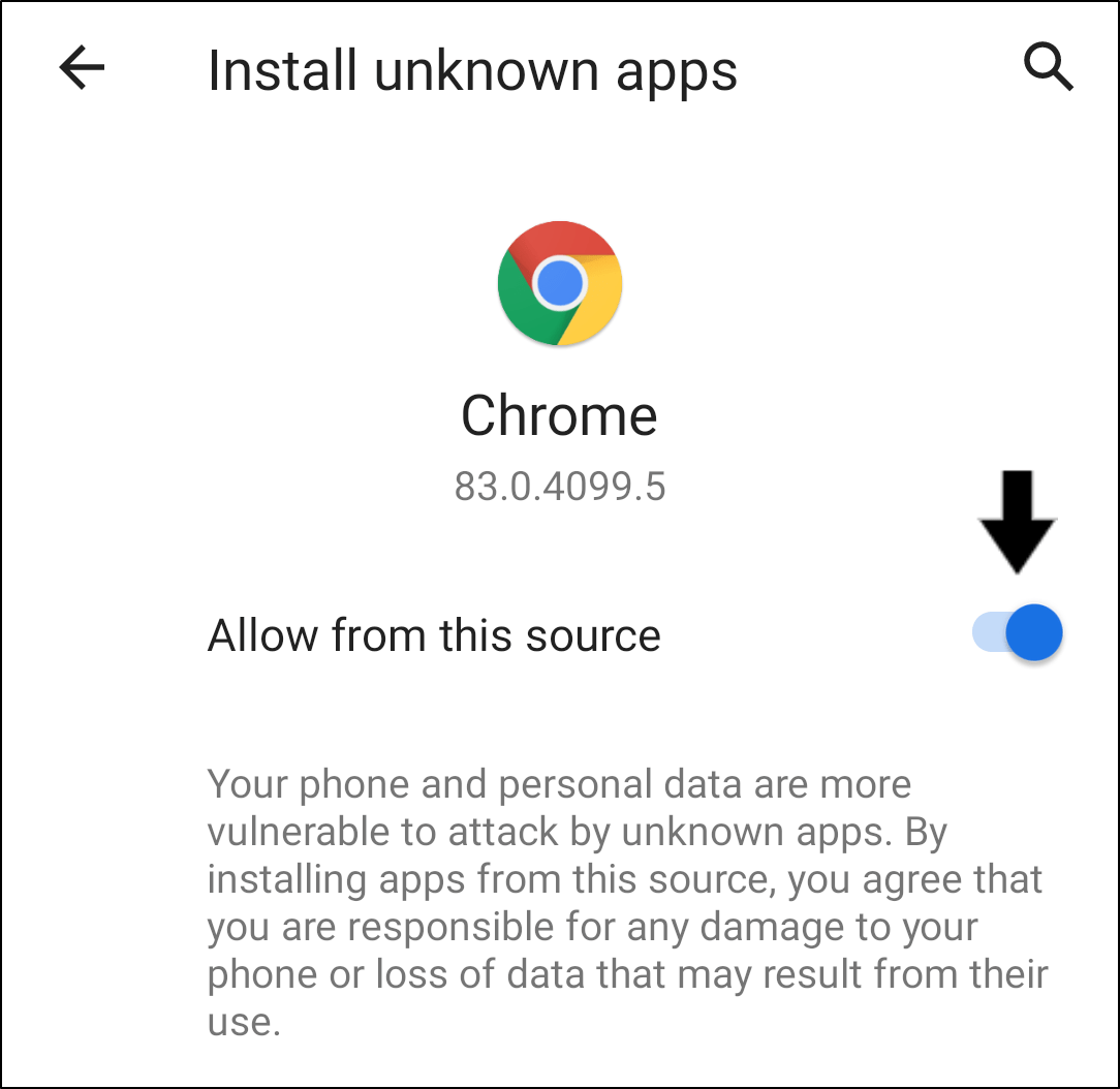 """allow setting to install unknown apps on Android to install previous TikTok app version and fix can't log in to TikTok, """"Too many attempts, please try again"""" error message, or login failed"""