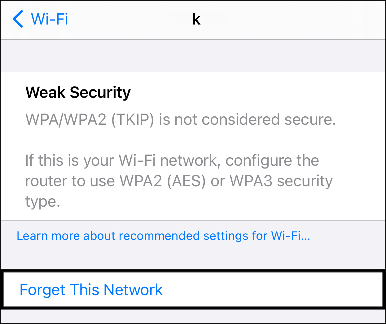 Forget Your Wi-Fi Network to improve internet connection and fix can't log in or sign in to Instagram