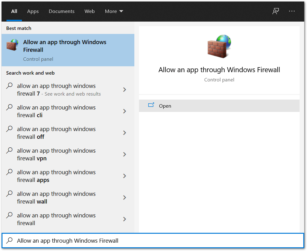 allow Teams app through Firewall on Windows to fix Microsoft Teams chat messages not sending, showing, loading or working