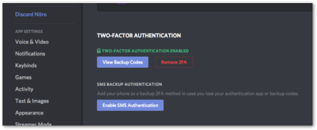 set up two-factor authentication and prevent and fix Discord keeps logging out