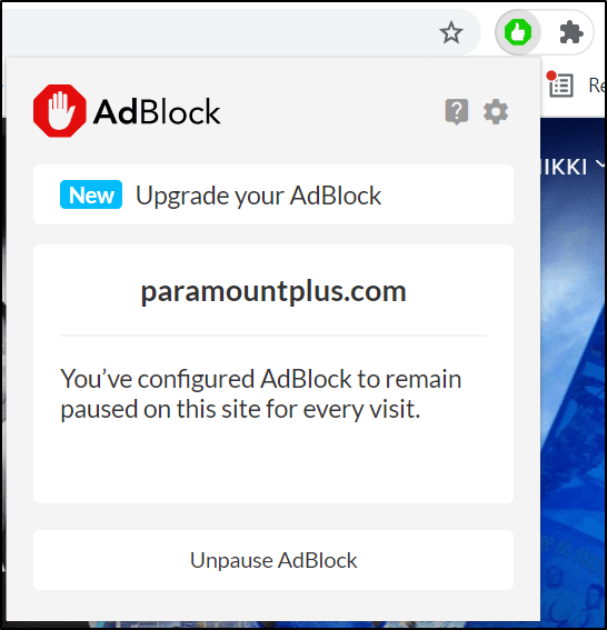 disable adblock extension on web browser to fix Peacock TV buffering, not loading or working