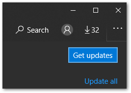 check for updates for Windows 10 apps such as HBO Max to fix HBO Max subtitles or closed captions not working, showing or loading