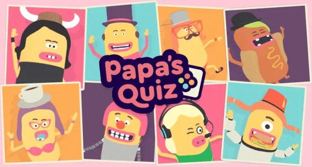 Papa's Quiz ¡El juego de pregunta más divertido llega a Nintendo Switch!