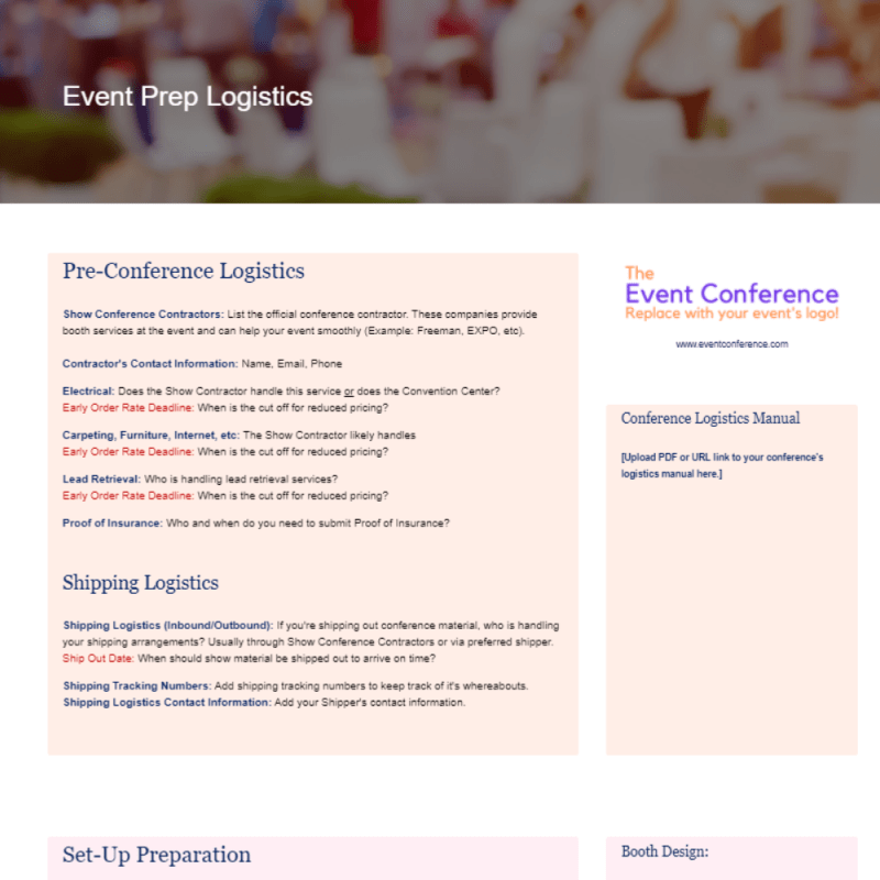 Event Planner. Marketing Strategy Templates with Plexie