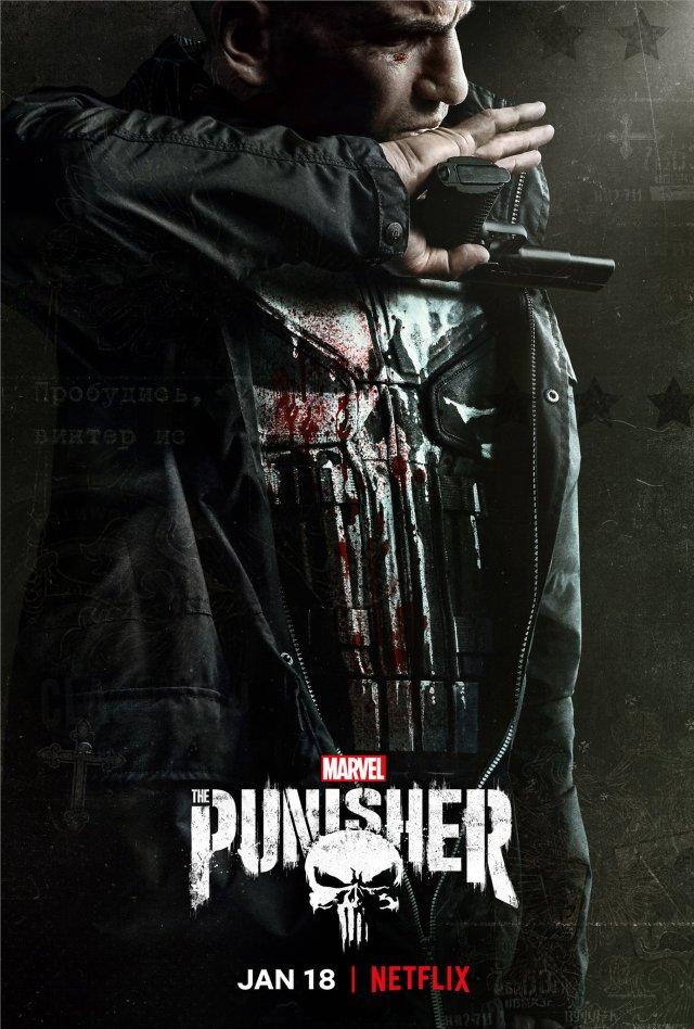 Frank Castle (Jon Bernthal) en un póster de la temporada 2 de The Punisher. Imagen: The Punisher Twitter (@ThePunisher).