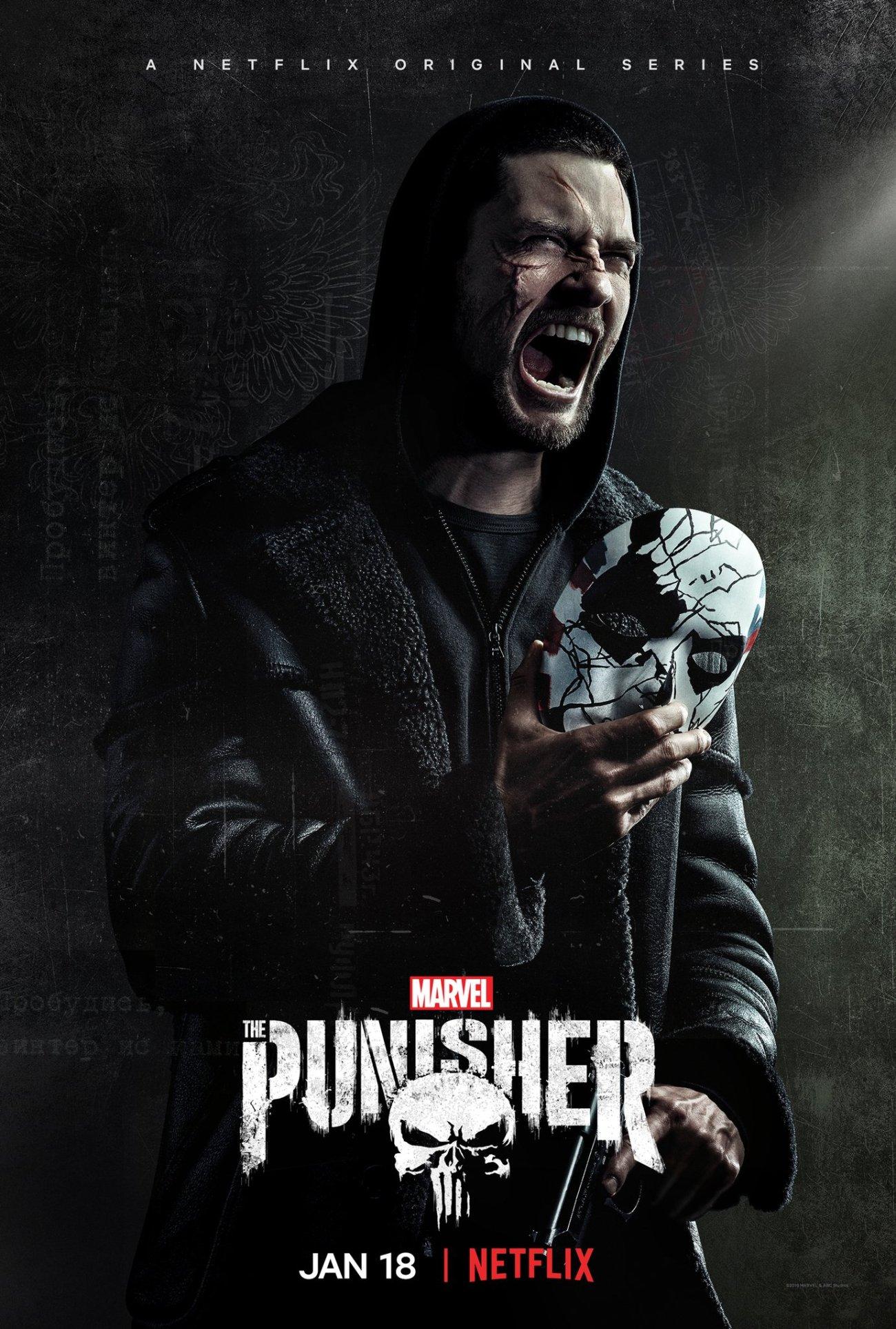 Billy Russo (Ben Barnes) en un póster de la temporada 2 de The Punisher. Imagen: The Punisher Twitter (@ThePunisher).