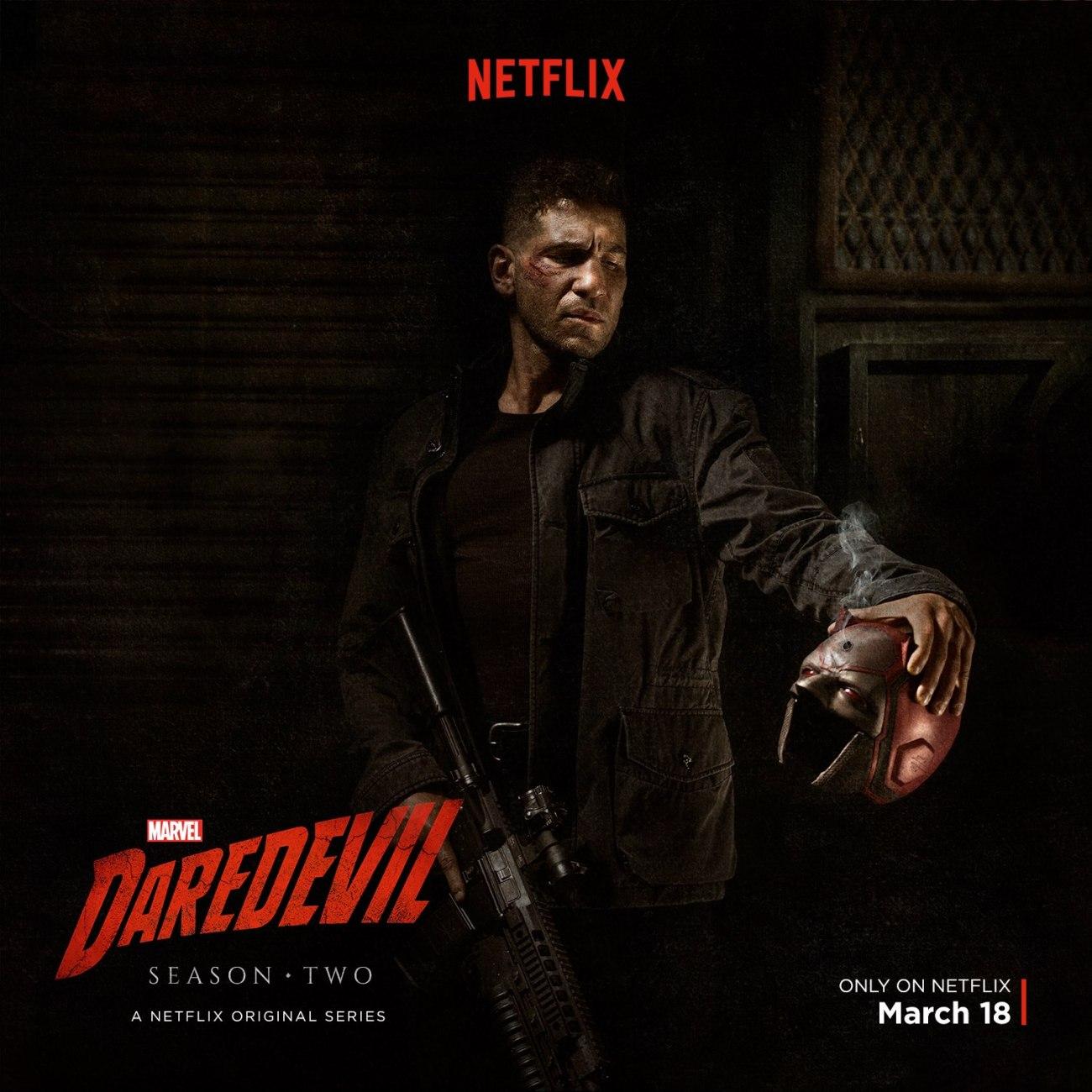 Frank Castle/The Punisher (John Bernthal) debutó en la temporada 2 de Daredevil. Imagen: SuperHeroHype