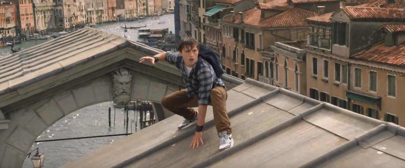 Peter Parker (Tom Holland) en Spider-Man: Far From Home (2019). Imagen: Comic Book Movie (CBM).