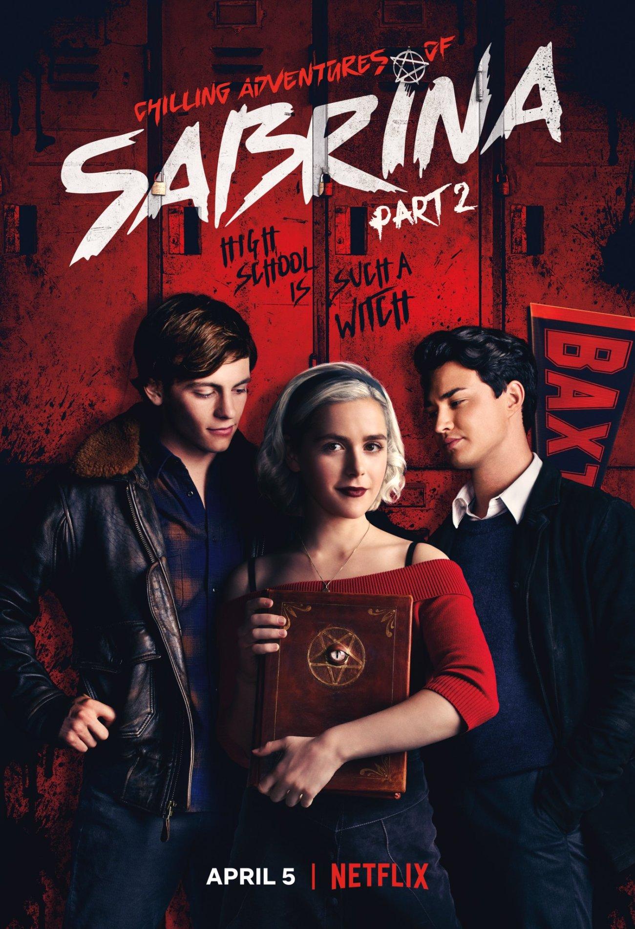Póster de la temporada 2 de Chilling Adventures of Sabrina. Imagen: Chilling Adventures of Sabrina Twitter (@sabrinanetflix).
