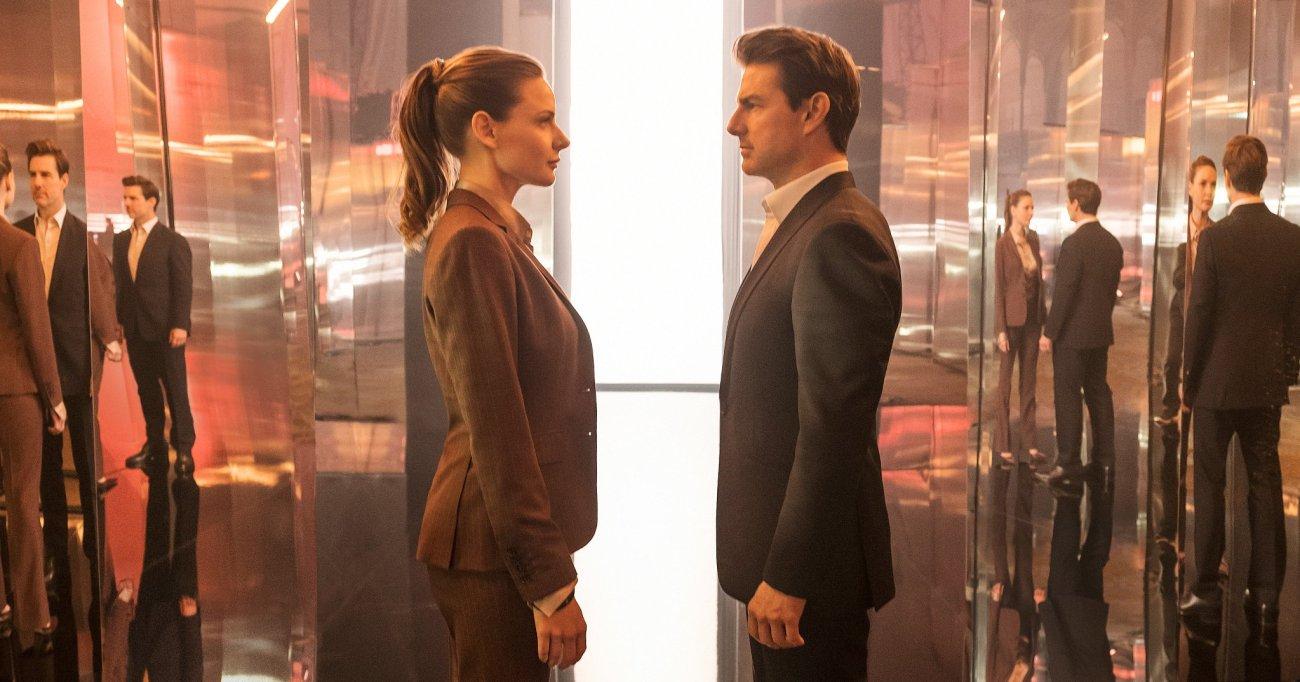 Ilsa Faust (Rebecca Ferguson) y Ethan Hunt (Tom Cruise) en Mission: Impossible – Fallout (2018). Imagen: Mission: Imposible Twitter (@MissionFilm).
