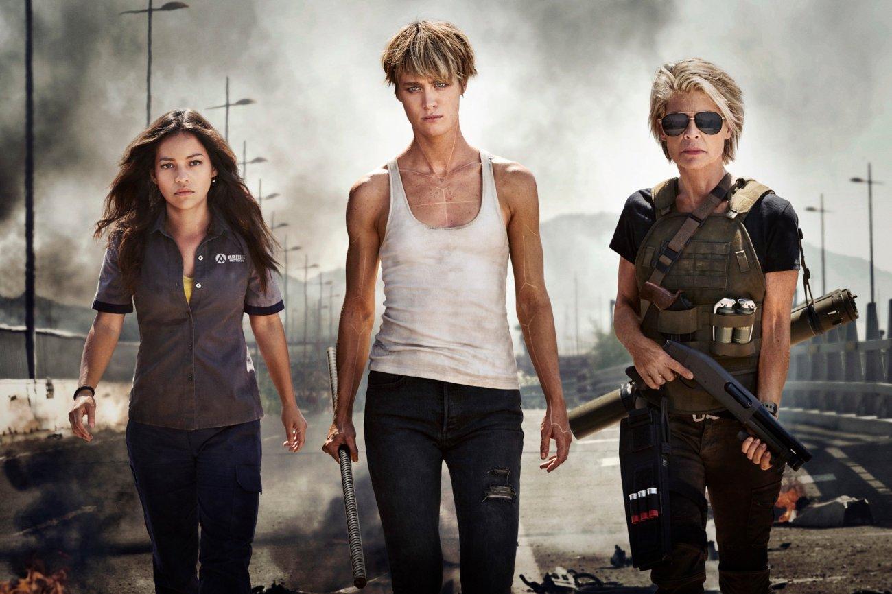 Natalia Reyes, Mackenzie Davis y Linda Hamilton son protagonistas de la próxima película de Terminator (2019). Imagen: Paramount Pictures Twitter (@ParamountPics).