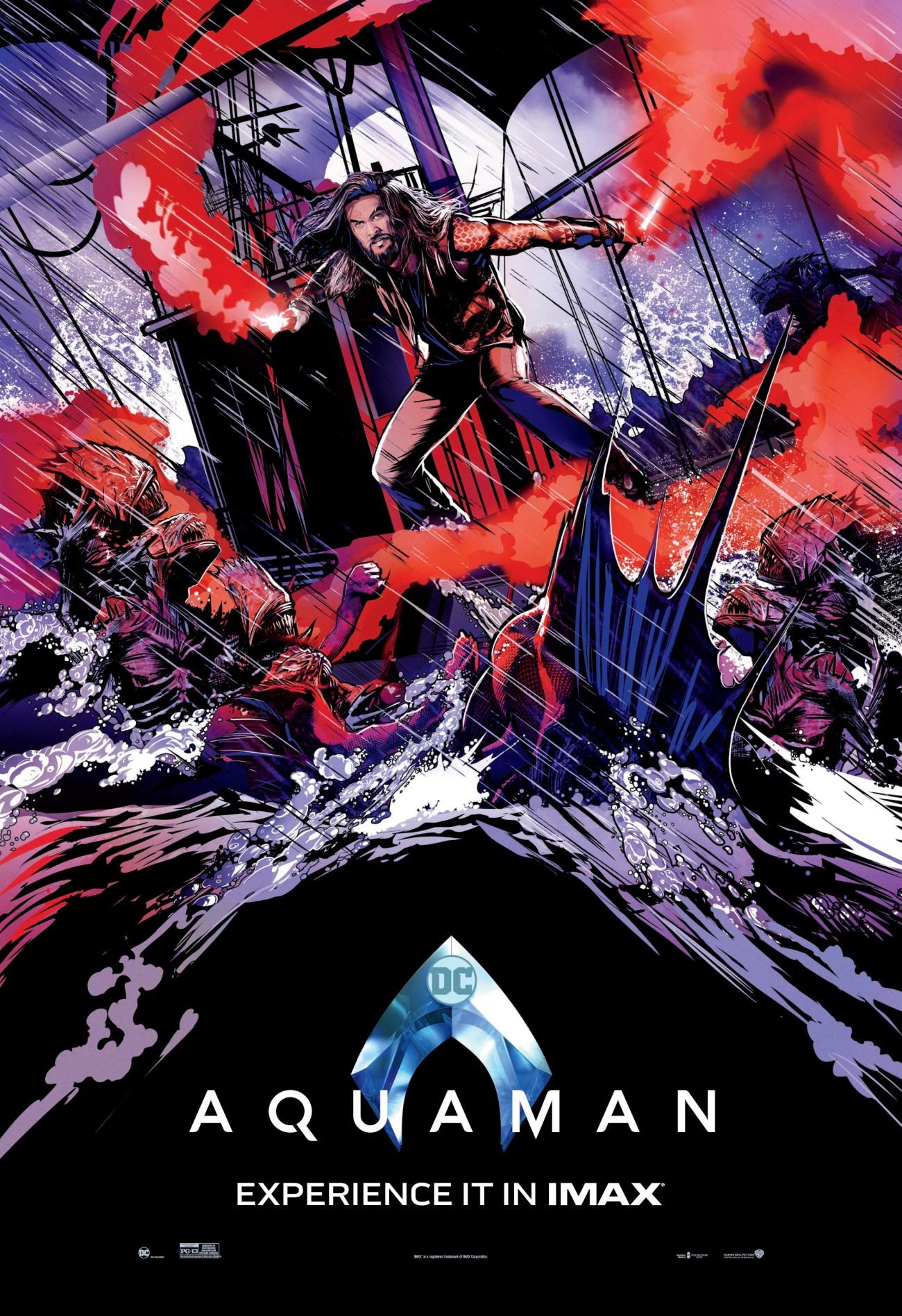 Póster IMAX de Aquaman (2018). Imagen: impawards.com