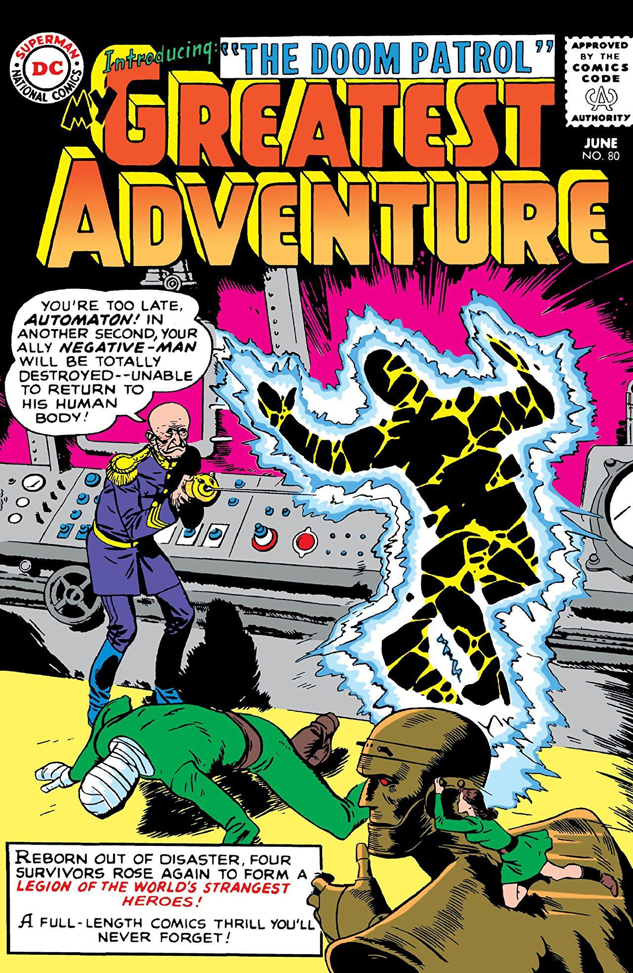 El debut de la Doom Patrol en My Greatest Adventure #80 (junio de 1963). Imagen: comiXology