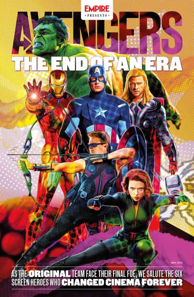 Portada de Empire Presents: Avengers –The End of an Era– (mayo de 2019). Imagen: Empire Magazine