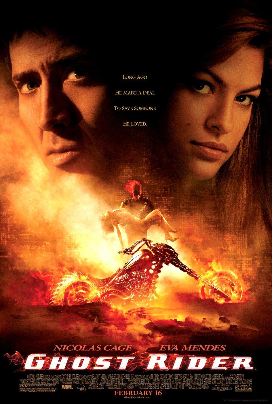 Póster de Ghost Rider (2007). Imagen: impawards.com