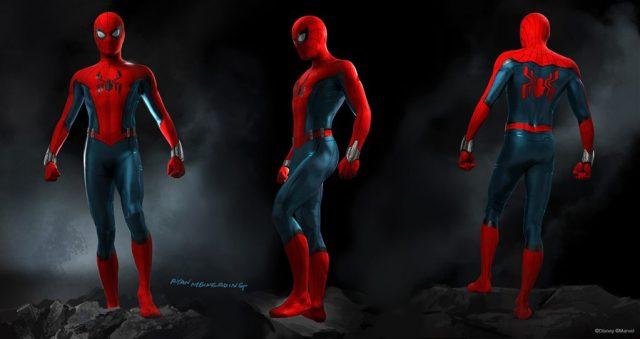 El traje de Spider-Man en arte conceptual por Ryan Meinerding para los parques Disney. Imagen: disneyparks.disney.go.com