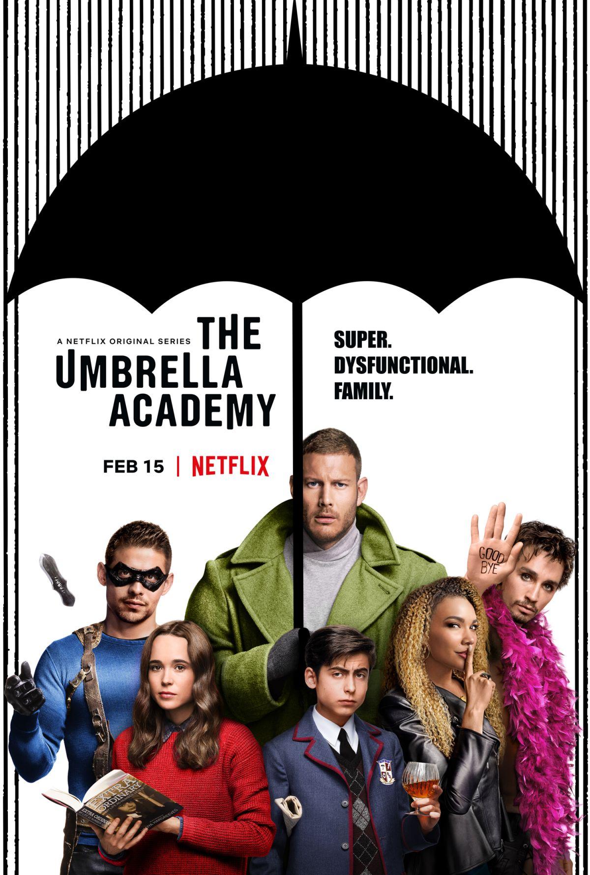 Póster de The Umbrella Academy. Imagen: SuperHeroHype