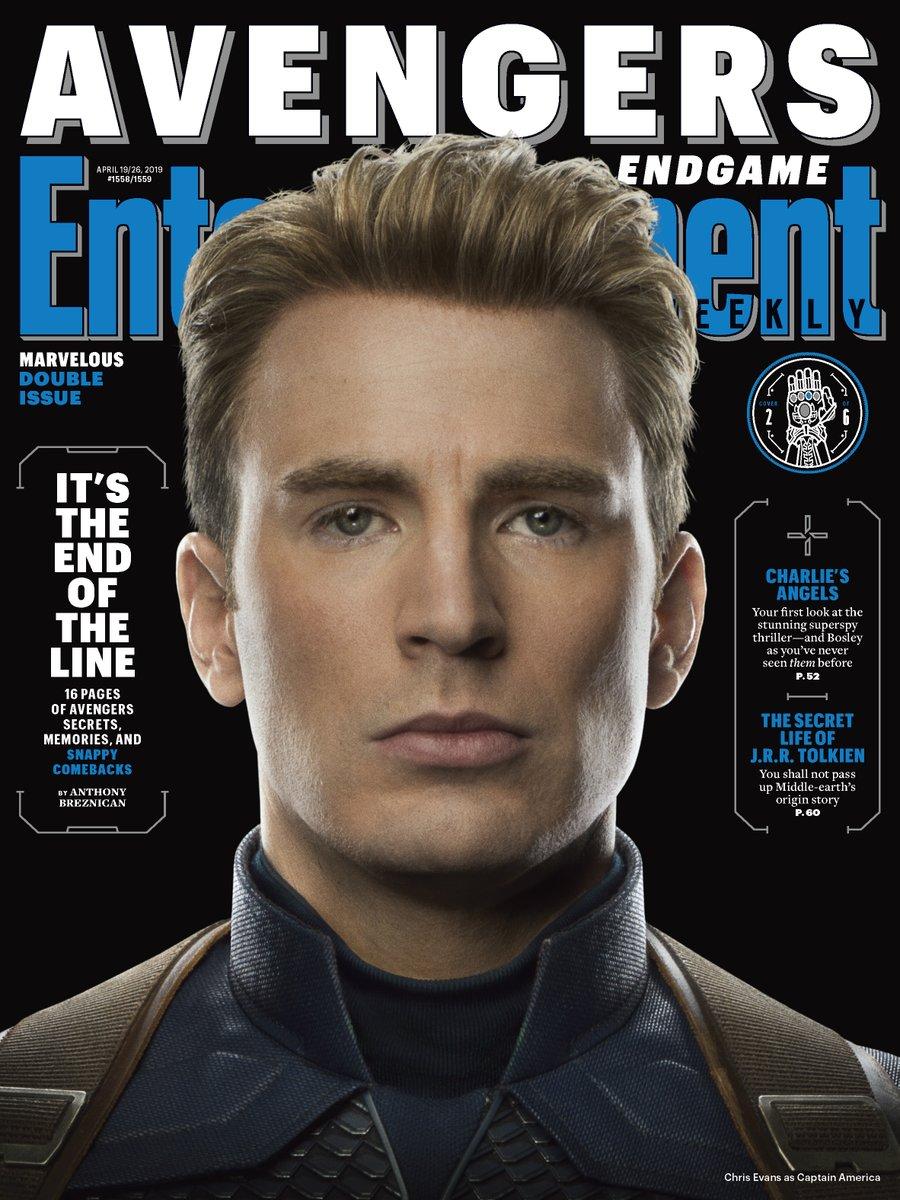 Captain America (Chris Evans) en Entertainment Weekly #1558-1559 (19-26 de abril de 2019). Imagen: Marvel Studios Twitter (@MarvelStudios).