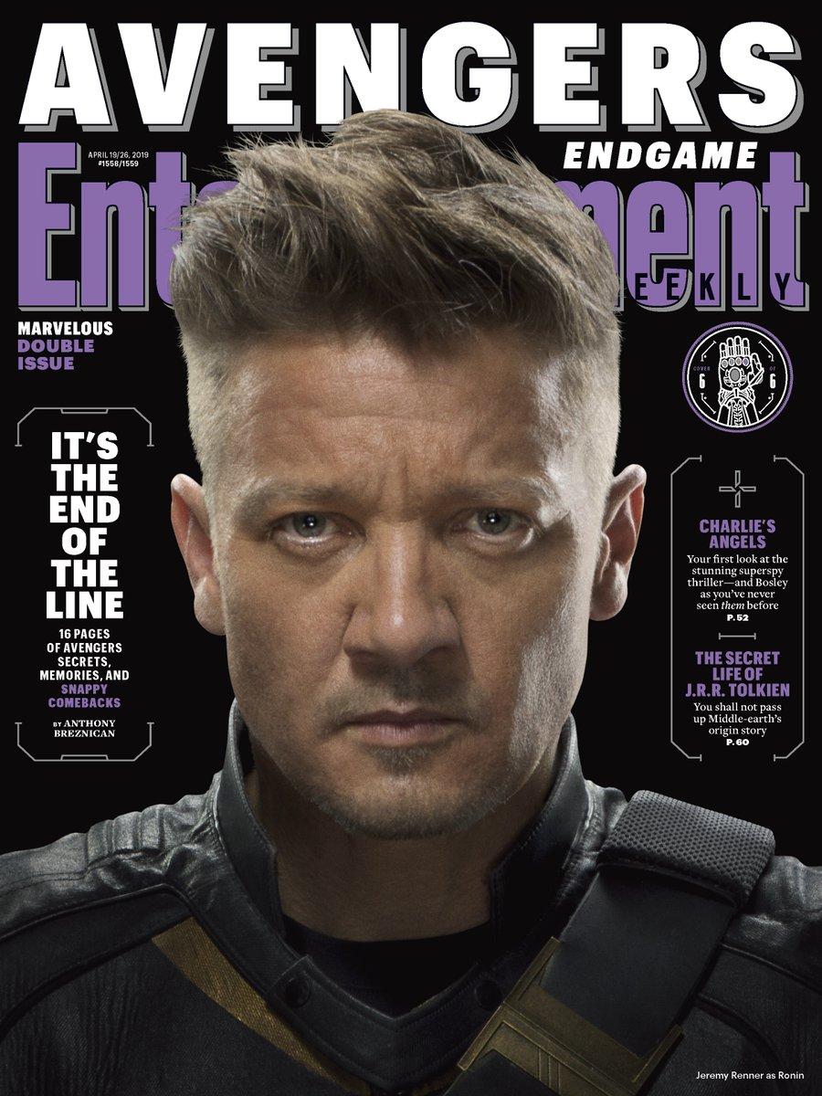 Ronin (Jeremy Renner) en Entertainment Weekly #1558-1559 (19-26 de abril de 2019). Imagen: Marvel Studios Twitter (@MarvelStudios).