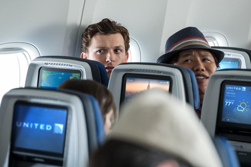 Peter Parker (Tom Holland) y Ned Leeds (Jacob Batalon) en Spider-Man: Far From Home (2019). Imagen: United Twitter (@United).