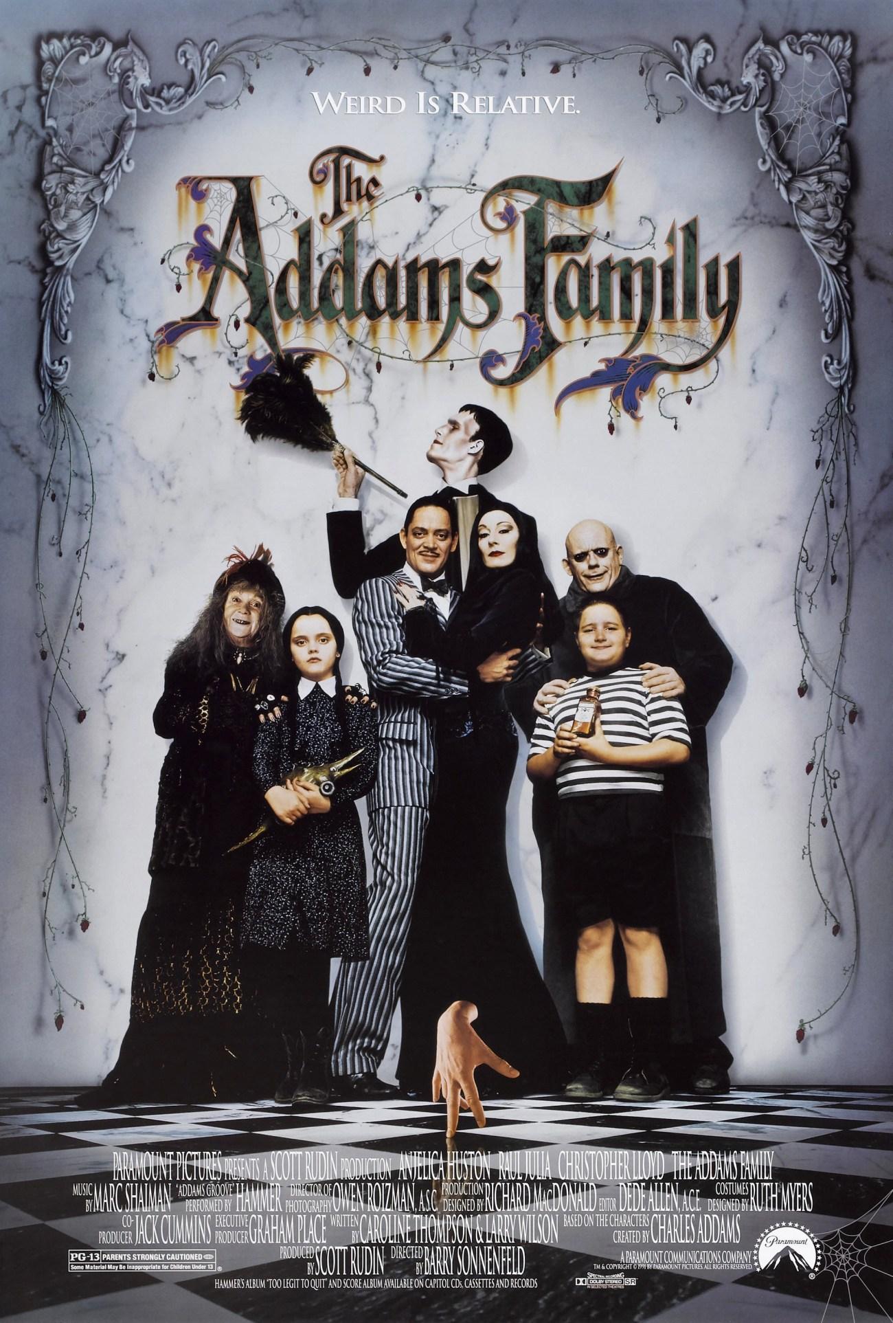 Póster de The Addams Family (1991). Imagen: impawards.com