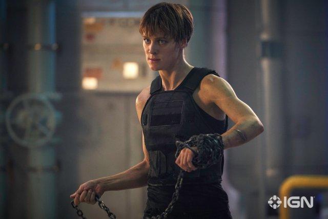 Mackenzie Davis en Terminator: Dark Fate (2019). Imagen: IGN/Paramount Pictures