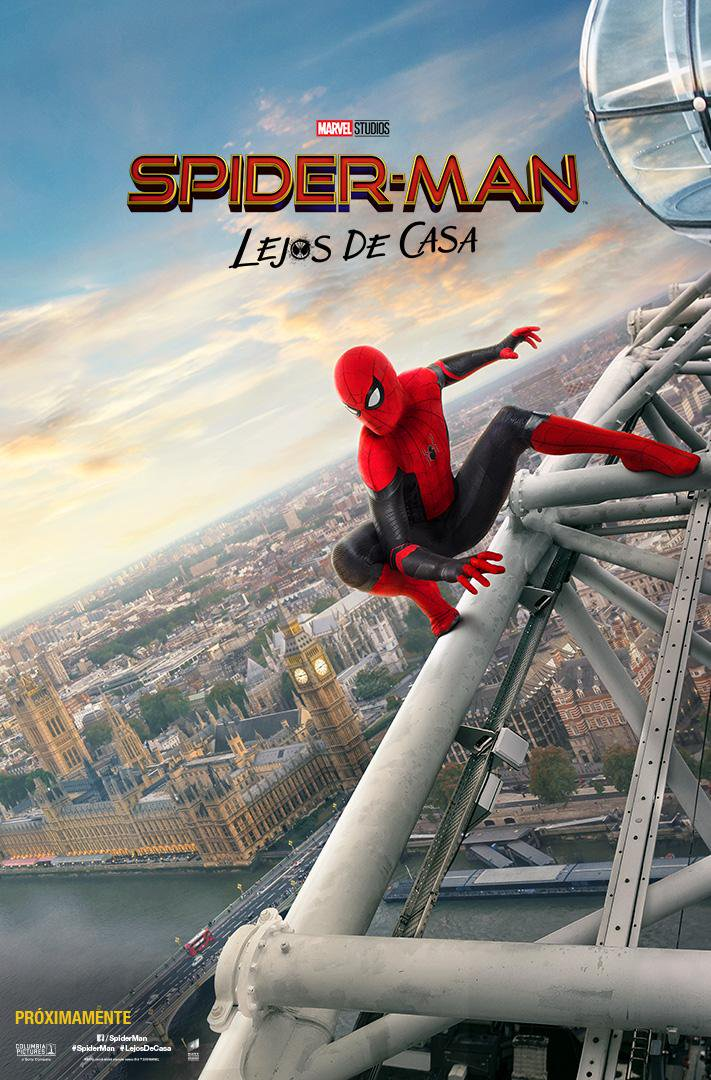 Póster de Spider-Man: Far From Home (2019). Imagen: Sony Pictures Latam Twitter (@SPE_LatinAM).