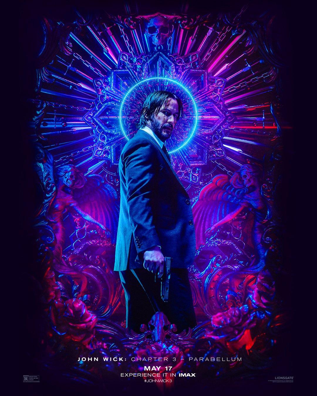 Póster IMAX de John Wick: Chapter 3 – Parabellum (2019). Imagen: IMAX Twitter (@IMAX).