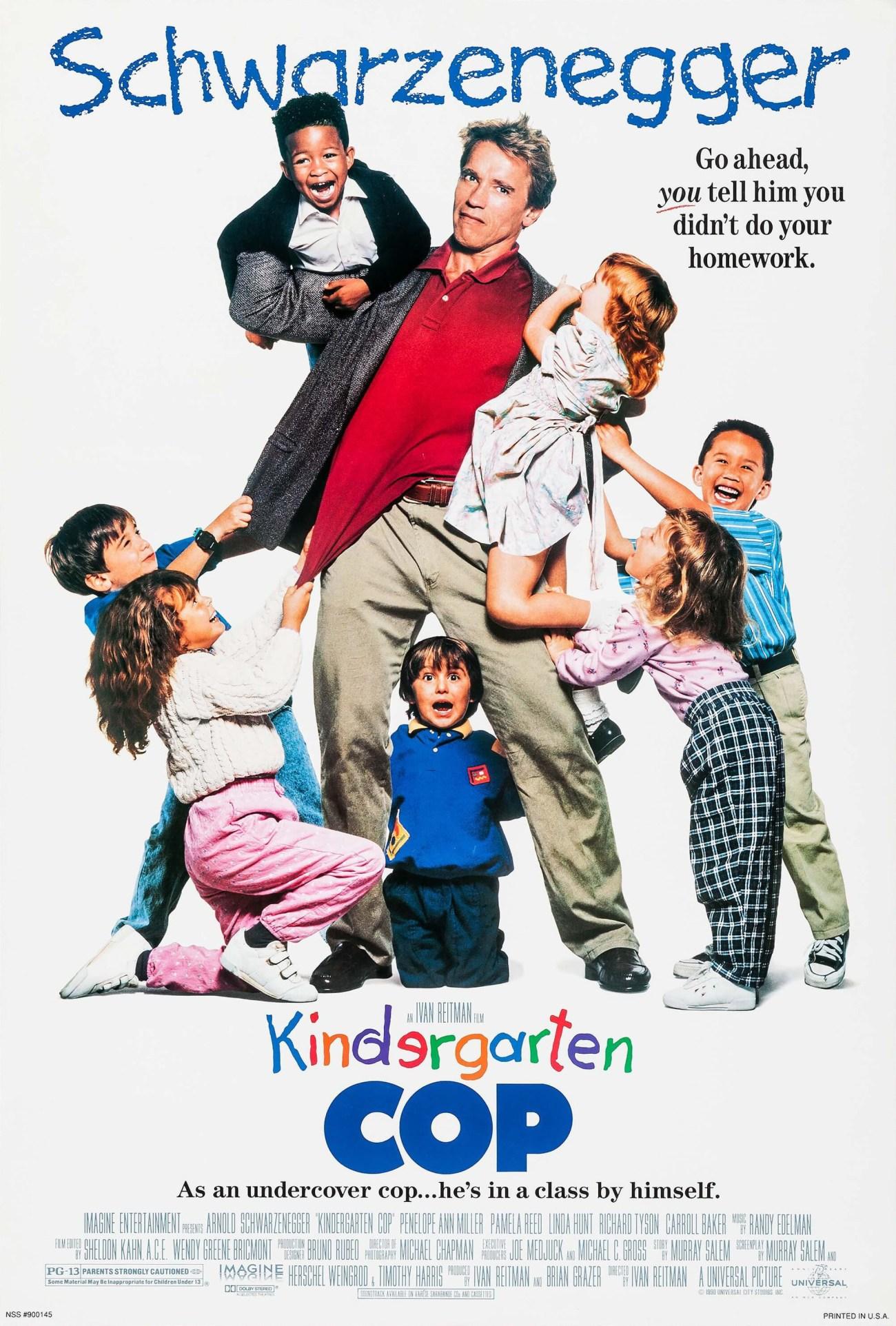 Póster de Kindergarten Cop (1990). Imagen: impawards.com