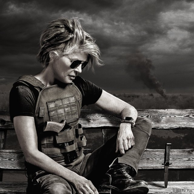 Sarah Connor (Linda Hamilton) en Terminator: Dark Fate (2019). Imagen: Terminator: Dark Fate Twiter (@Terminator).