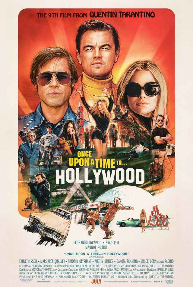 Póster de Once Upon a Time in Hollywood (2019). Imagen: Once Upon a Time in Hollywood Twitter (@OncelnHollywood).