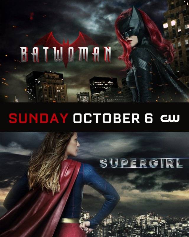 Batwoman y Supergirl en los domingos de The CW. Imagen: Supergirl Twitter (@TheCWSupergirl).
